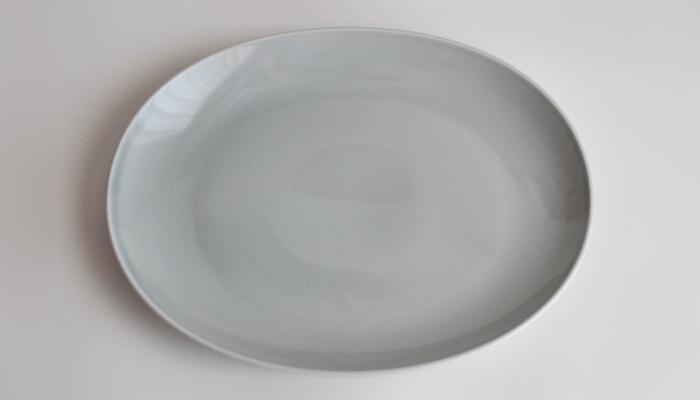 Common コモン オーバルプレート27cm グレー01