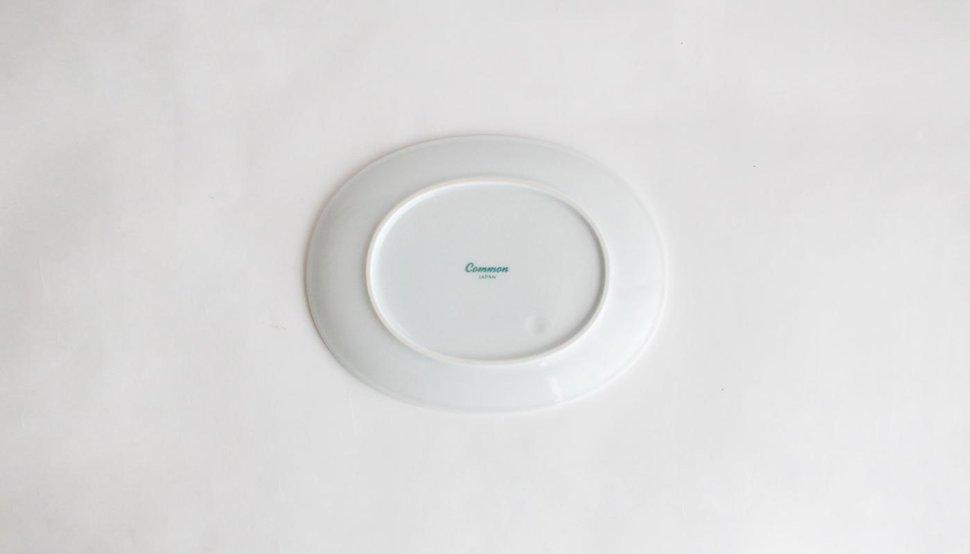 Common コモン オーバルプレート15cm ホワイト03