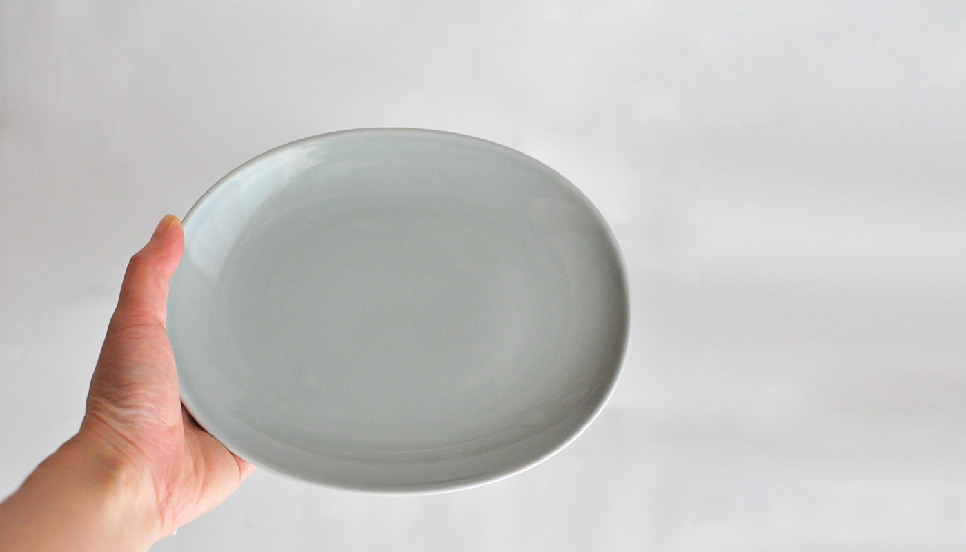 Common コモン オーバルプレート19cm グレー03