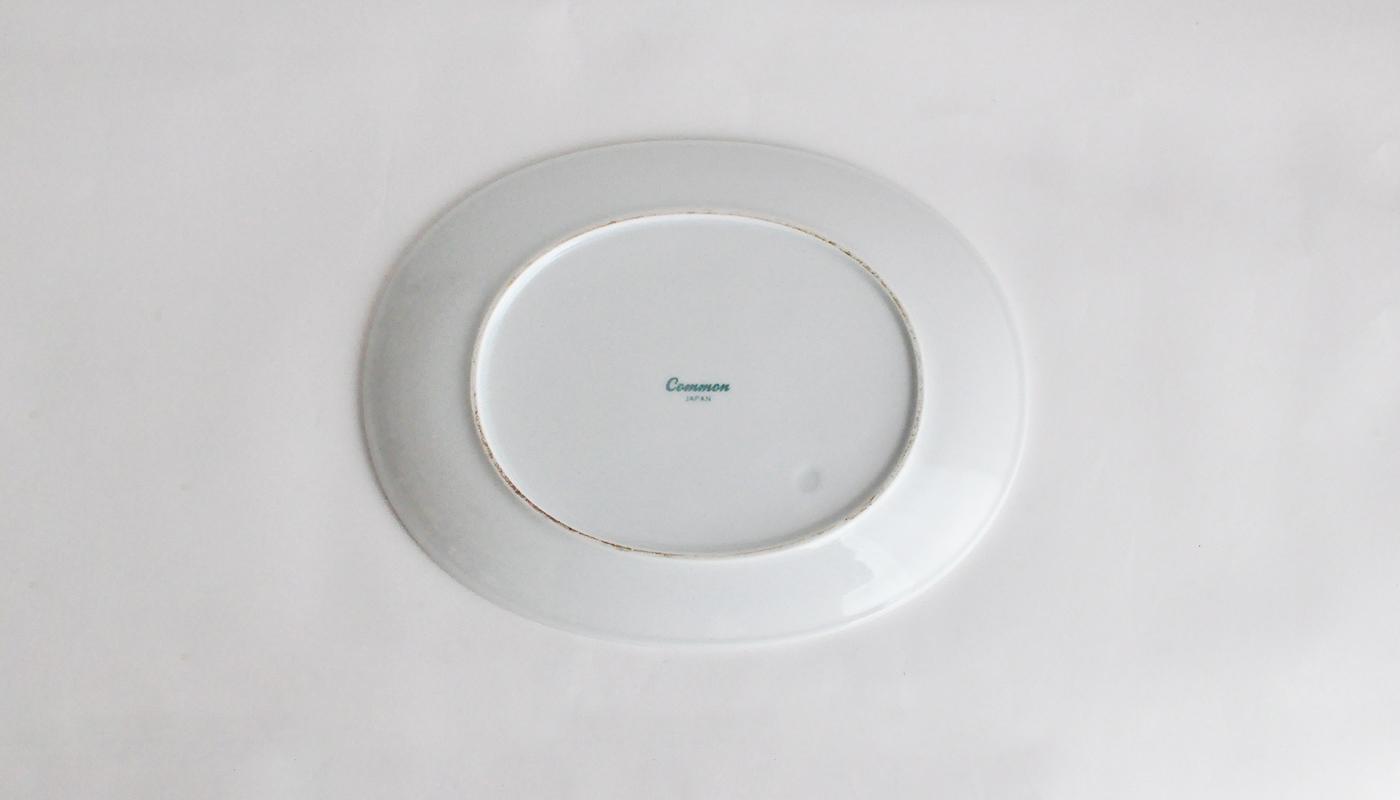 Common コモン オーバルプレート19cm ホワイト04