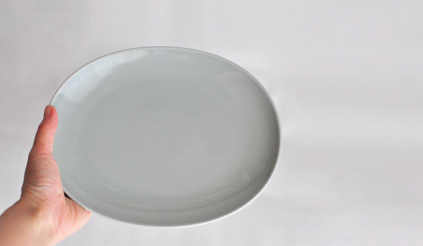 Common コモン オーバルプレート23cm グレー03