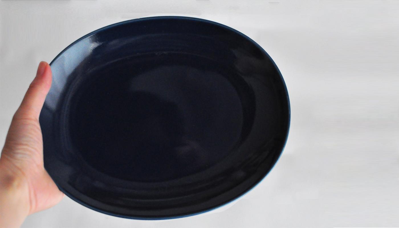 Common コモン オーバルプレート23cm ネイビー03