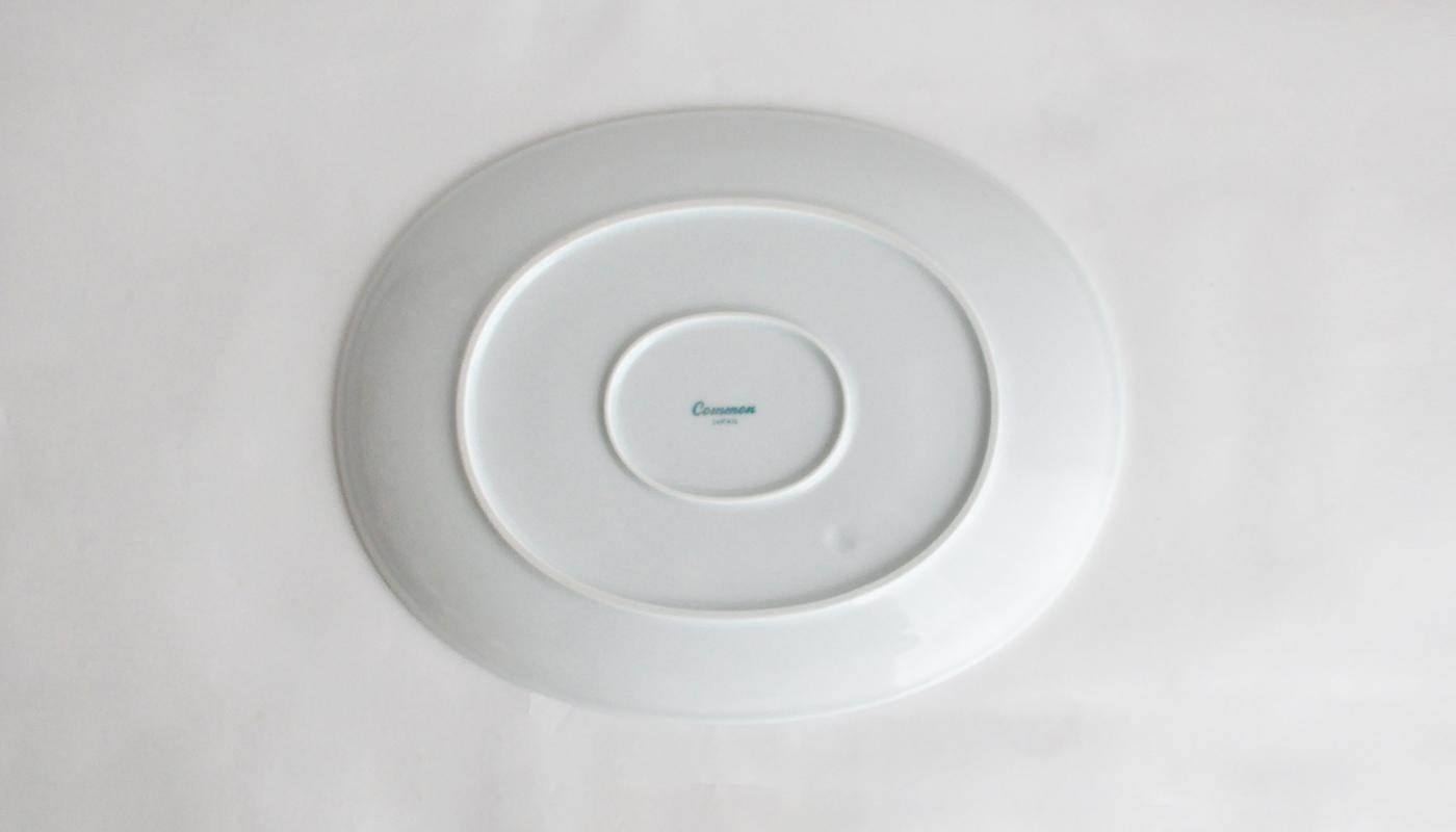 Common コモン オーバルプレート23cm ホワイト04