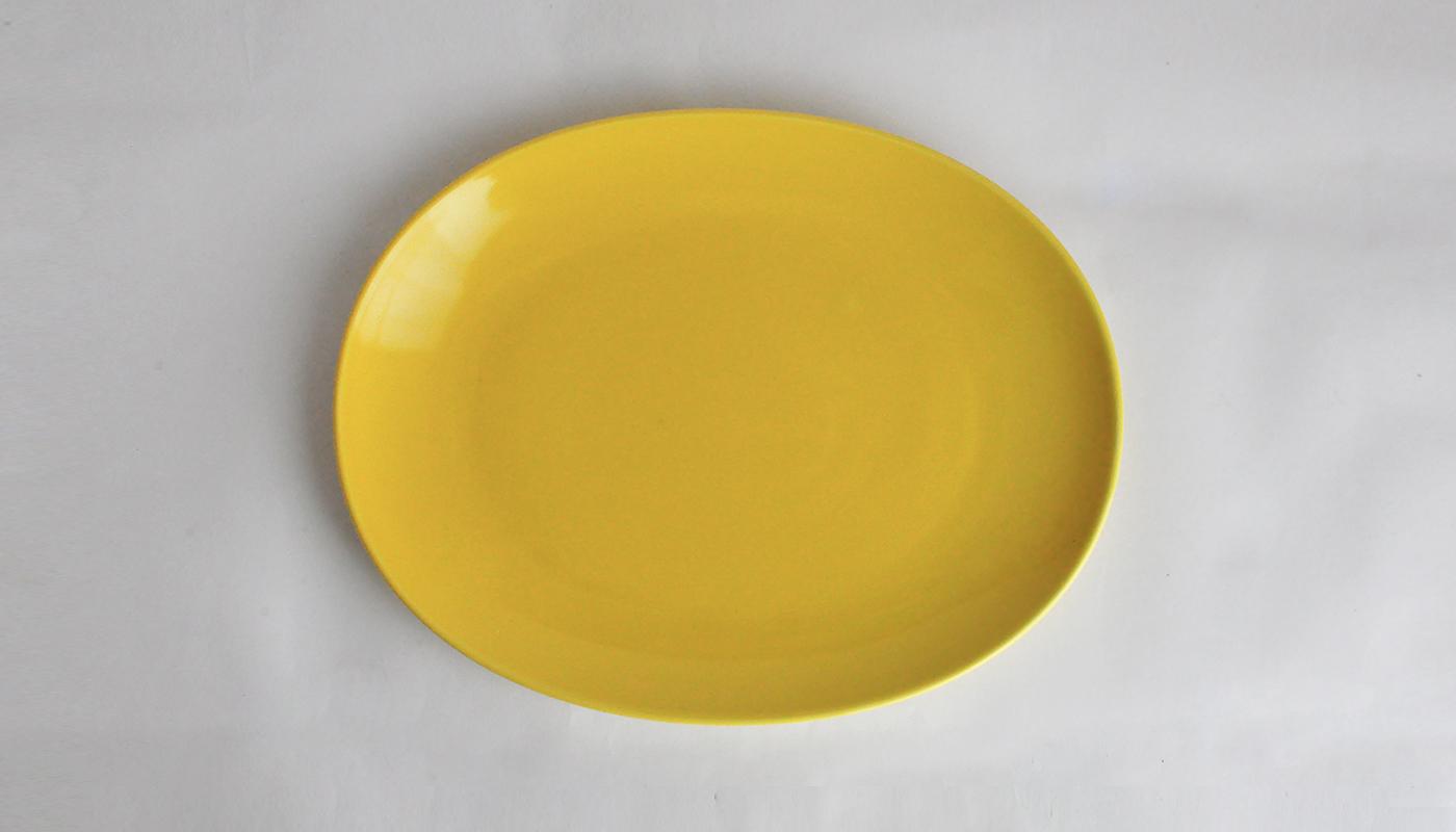Common コモン オーバルプレート23cm ホワイト01
