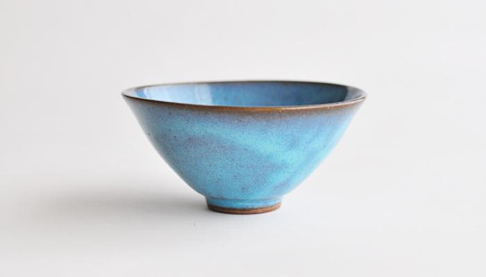 Common ご飯茶碗 ブルー | やまばれ陶房